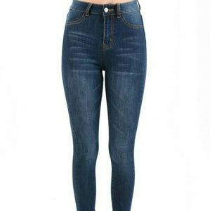 High waisted skinny stretch jeans ( LAST ONE )